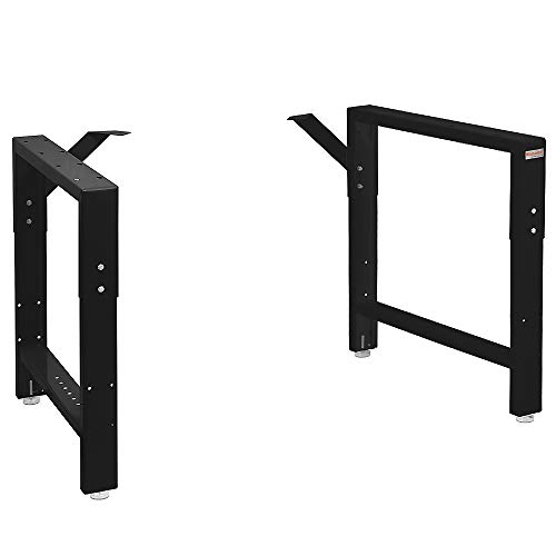 """Workbench Table Frame 20"""" Depth - Black - 29"""" to 35"""" Height Adjustable"""