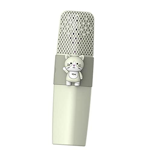 balikha Karaoke Micrófono inalámbrico Sonido HD Batería de Larga duración Reproductor KTV portátil de Mano para niños Fiesta en casa Cumpleaños Compatible con - Gato Verde