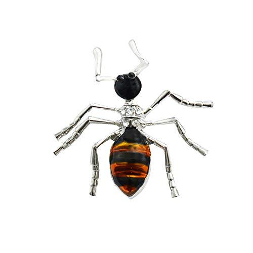Emorias 1 Pcs Broche de Fiesta Hormiga Mujer Ropa Moda Decoracion Pin Vestidos Bisuteria Boda Hombres Regalo Joyería Accesorios