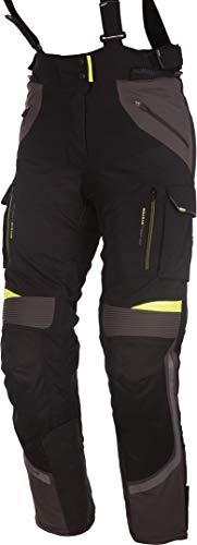 Modeka Motorradhose PANAMERICANA LADY schwarz gelb Stretch Sympatex Protektoren, 22