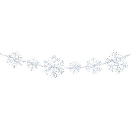 OULII Flocons de neige Guirlande Sapin de Noël Bijoux pour fêtes de Noël 6 pièces 38 cm