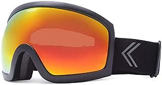 KREEDOM Park Goggle, Black Satin with Lava Chrome Lens
