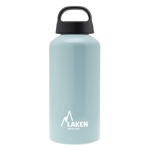 Laken Classic Botella de Agua Cantimplora de Aluminio con Tapón de Rosca y Boca Ancha, 0,6L Turquesa