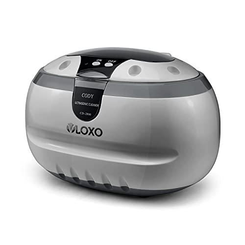 Pulitore ad Ultrasuoni 600ML VLOXO Lavatrice ad Ultrasuoni Professionale 42000 Hz Pulizia Ultrasuoni per Gioelli Orologi Occhiali Dentiere con Porta Orologi & Pulizia Plastica Cesto (Argento)