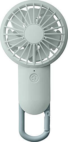 リズム(RHYTHM) 携帯扇風機 ブルー 【改良】 USBファン 充電式 カラビナ 小型 強力 DCブラシレス 9ZF028RH04 17.7x8.5x3.5cm