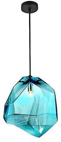Office kroonluchter Creative enkele kop kroonluchter kleurrijke glazen blauw/grijs/oranje hanglamp for Eettafel Slaapkamer Woonkamer decoratieve lichtpunt Onderzoek kamer kroonluchter