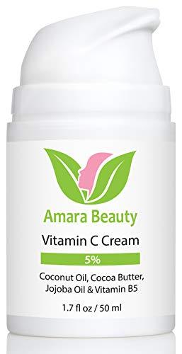 Vitamin C Cream for Face with Coconut Oil, Cocoa Butter & Jojoba Oil,...