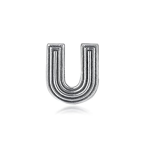 Pandora 925 Plata Reflexions Pulsera Letra U Clip Charm Beads Para La Fabricación De Joyas Kralen Berloques Exquisito Regalo