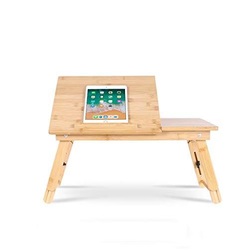 COMPU Laptop-Schreibtisch Tisch verstellbar 100% Bambus Faltbares Frühstück Tablett mit Kippschublade