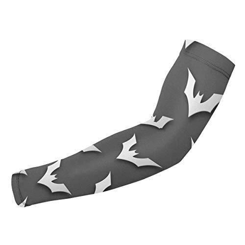 Eyliy Nahtlose Halloween Fledermaus Papier Kunst Kompression Arm Ärmel Sonne UV-Schutz Armabdeckung für Outdoor-Aktivitäten