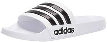adidas Men s Adilette Shower Slide White/Core Black/White 10