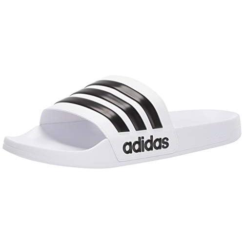 adidas Adilette Shower, Scarpe da Spiaggia e Piscina Uomo, Ftwr Nucleo Bianco Nero Ftwr, 37 EU