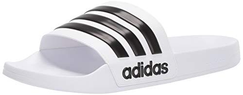 adidas Adilette Shower Chanclas Hombre, Blanco (Footwear White/Core Black/Footwear White 0), 40.5 EU (7 UK)