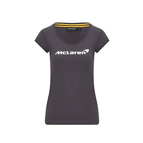 McLaren - Offizielle Formel 1 Merchandise 2020 Kollektion - Damen - Essentials Tee - Kurze Ärmel - Anthrazit - Größe XL