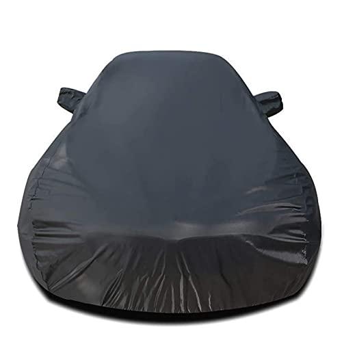 CARCOVER Funda para Coche Transpirable Compatible con DS 5 5LS Cubierta de Coche Exterior Anti-UV Antiviento Antipolvo Impermeable Lona de Coche (Color : Black, Size : DS 5)