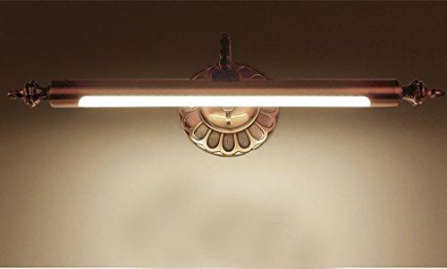 lumières minimaliste miroir miroir avant miroir lampes de salle de bain armoire de toilette de courtoisie américaine Continental LED anti-brouillard imperméable à l'eau (cote d'efficacité énergétique A +) ( couleur : Blanc chaud-Short Paragraph )