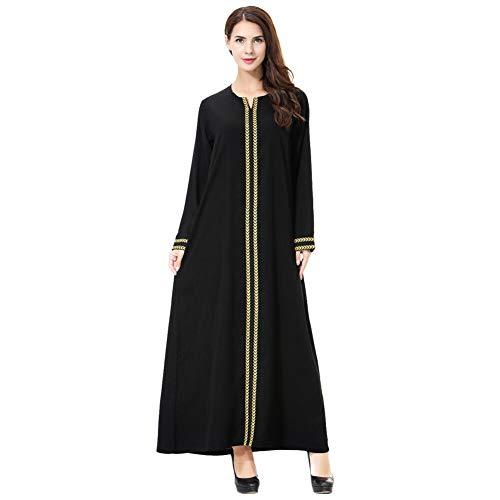 Meijunter Vestito da Donna Musulmana - Kaftan Abbigliamento Islamico Abito Arabo di Dubai per il Ramadan