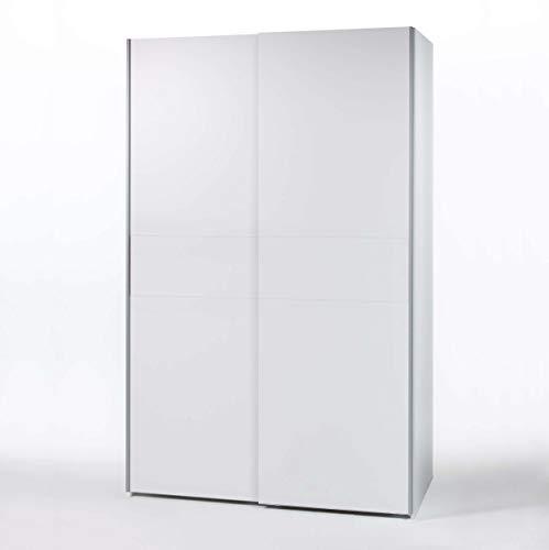 AVANTI TRENDSTORE - Victoria - Armadio ad Ante scorrevoli in Legno Laminato, Disponibile in 2 Colori Diversi. Dimensioni: Lap 125x195x62 cm (Bianco)