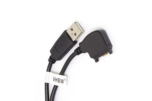vhbw Cavo Dati USB per Nokia 6230i, 6233, 6234, 6260, 6270, 6280, 6288, 6630, 6650, 6670, 6680, 6681, 7270, 7370, 7373 Cellulare - Nero