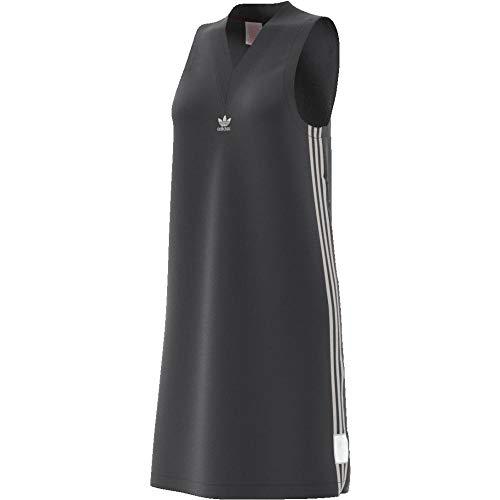 adidas Adibreak Vestido de Tenis, Mujer, Gris (Carbon), 40