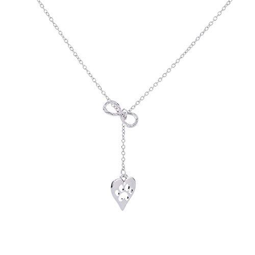 LAJICEF Hombres 8 Ocho Collar Cartas Cuello Collar Pendiente de Cadena del corazón en Forma de Joyas de la Mujer