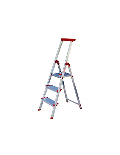 Escalera Rolser Aluminio Brico 220 3 Peldaños anchos
