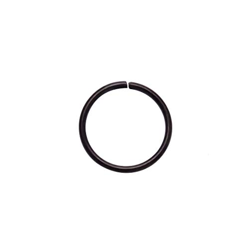 4youquality Surgical Steel Nose Ring Nose Hoop Cartilage Helix Lip Ear Piercing Ring (Black, Size 1.0 * 6mm Tiny)