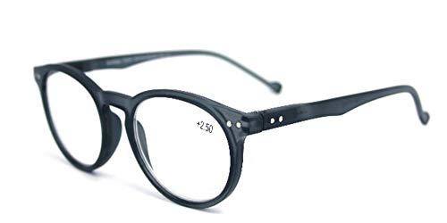 Fitsch Online UG chique leesbril +2,5 voor dames & heren grijs leeshulp flexibele beugel kant-en-klare bril