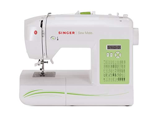 SINGER | Sew Mate 5400 Handy Sewing Machine Including 60 Built-in Stitches, 4 Fully Built-in 1-Step Buttonhole, Automatic Needle Threader & Automatic Tension, Help to get Started in No time (Renewed)