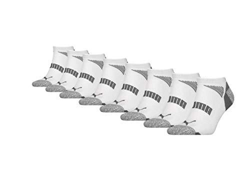 Puma No Show Mens Socks 8 Pack white grey UK 6 8