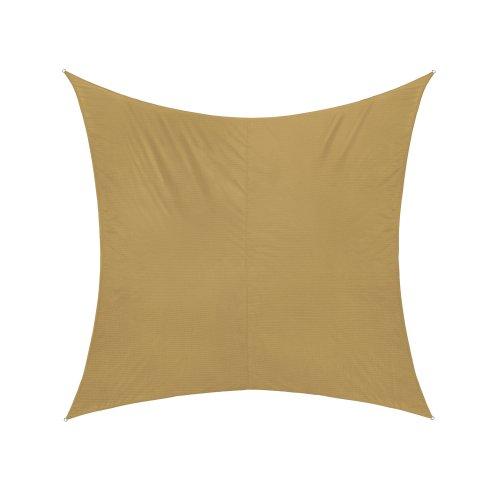 jarolift Voile d'ombrage | Toile d'ombrage | Carré | Tissu imperméable à l'eau | 300 x 300 cm, Sable