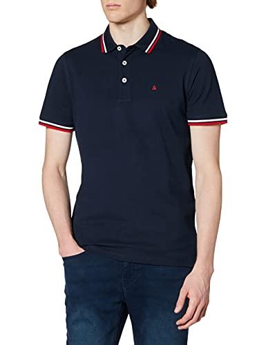 Oferta de JACK&JONES JJEPAULOS Polo SS Noos Camisa, Navy Blazer/Detail:Slim FIT, XL para Hombre