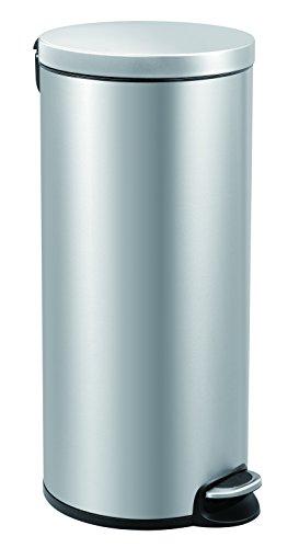 EKO Poubelle à Pédale Métal Inox 36,6 x 29,2 x 65 cm 30 litres