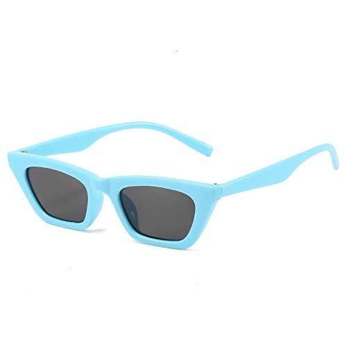 NJJX Gafas De Sol De Moda Para Mujer, Pequeñas Y Coloridas, Ojo De Gato, Gafas De Sol Para Mujer, Gafas C3Blueblack