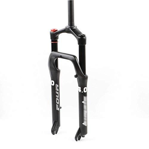 DPG 24 Inch Bicycle Fork Mtb Forks, Wide Tire 4.0 Fat Fork/Air Fork/Top Tube 28.6 Mm * 220 Mm/Opening 135 Mm/Disc Brake/Holder 75 Mm Disc Brake Disc