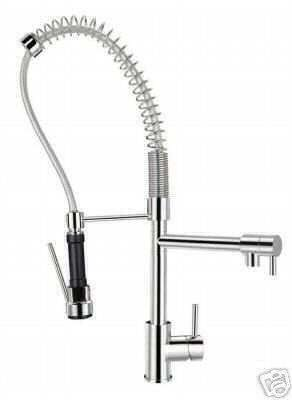 High End Deck Mount Polished Chrome Kitchen Faucet with Pre Rinse Sprayer
