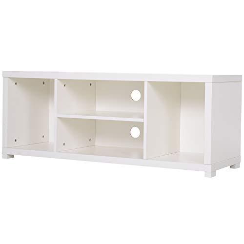 Homcom TV-kast van hout wit met vakken 120 x 40 x 47 cm
