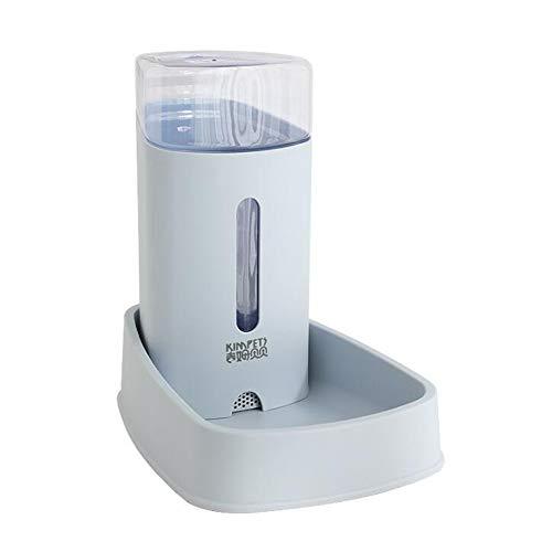 Plush-NH Alimentador Bebedor de Agua de Perrito del Gato del Perro casero 3.8L dispensador 2 en 1 Botella automática Fuente de Alimentación para la alimentación Beber Rosa Azul