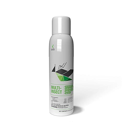 Pyur Solutions EXO Multi-Insect Bug Killer Repellent 14oz, Pest Control Spray (Ants, Bed Bugs, Aphids, Beetles, Cat Fleas, Mosquitoes) | Indoor Outdoor Use | Pet Family Safe