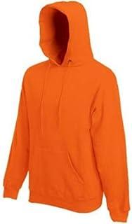 Fruit of the Loom Pullover Hooded Sweatshirt Hoodie Orange XXL