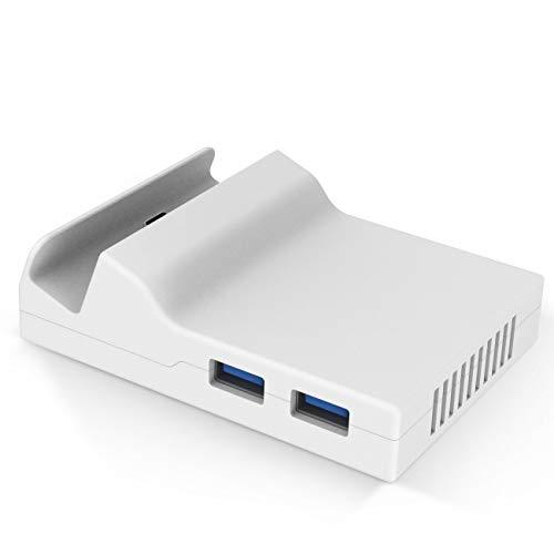 Preisvergleich Produktbild MASCARRY Ersatz-Gehäuse für Nintendo Switch (Nur die Hülle,  Sie müssen selbst mit dem Circuit Board Chip von The Original Dock zusammenbauen) Transparent weiß