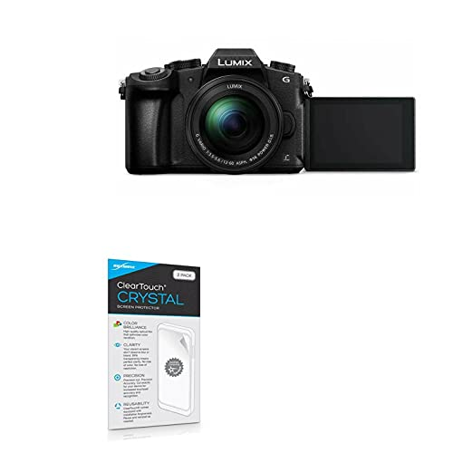 Película protetora de tela Panasonic Lumix DMC-G85, BoxWave [ClearTouch Crystal (pacote com 2)] HD - Protege contra arranhões para Panasonic Lumix DMC-G85