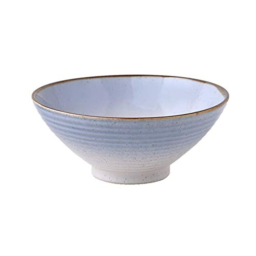 QTQHOME Pure Color Simple Bowls Instant Noodle Ramen Rice Soup Bowls Fruit Salad Bowl European Ceramic (Color:B,Size:×2)