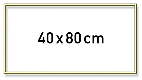 Schipper 605130708 - Malen nach Zahlen - Alurahmen 40 x 80 cm, goldglänzend ohne Glas für Ihr Kunstwerk, einfache Selbstmontage, Gold