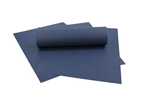 ZADAWERK® Tonkarton - 230 g/m² - DIN A3 - Dunkelblau - 50 Stück - basteln - Kinder