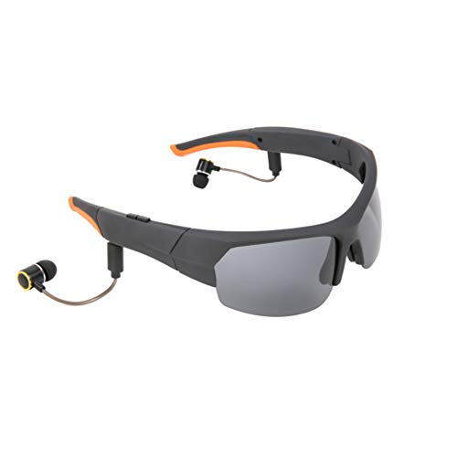 Yhjkvl Gafas de ciclismo Auriculares inalámbricos Bluetooth Lentes polarizadas Gafas de sol estéreo Auriculares manos libres para la mayoría de teléfonos inteligentes (negro) Gafas deportivas