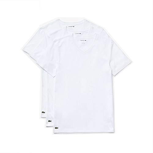 Lacoste Essentials – Camisetas de Cuello en V para Hombre (3 Unidades, 100% algodón, Ajuste Regular),…