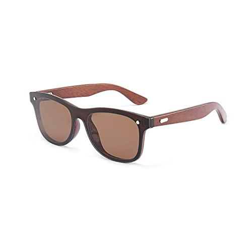 YTYASO Gafas de Sol cuadradas con Brazos de Madera, Gafas de conducción al Aire Libre para Mujer, Moda para Hombre, Madera UV400