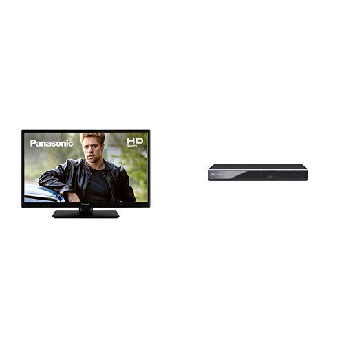 Panasonic TX-24G302B 24 inch HD LED TV with Freeview HD and DVD-S700EB-K DVD Player with Scart & HDMI input