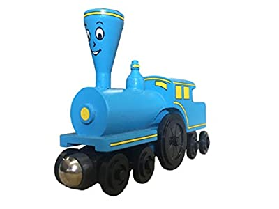Little Engine That Could The Children's Wooden Toy Train Replica | Classic Storybook Toy | Children's Bedtime Stories | Train Compatible with All Major Toy Train Sets | Magnetic Wooden Train from Whittle Toy Company
